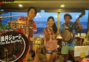 鎌倉、由比ヶ浜へさすらいの流し演奏