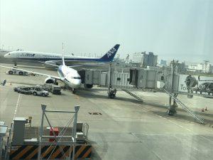 ふくやま大道芸の前夜祭 空港でNHK取材!?