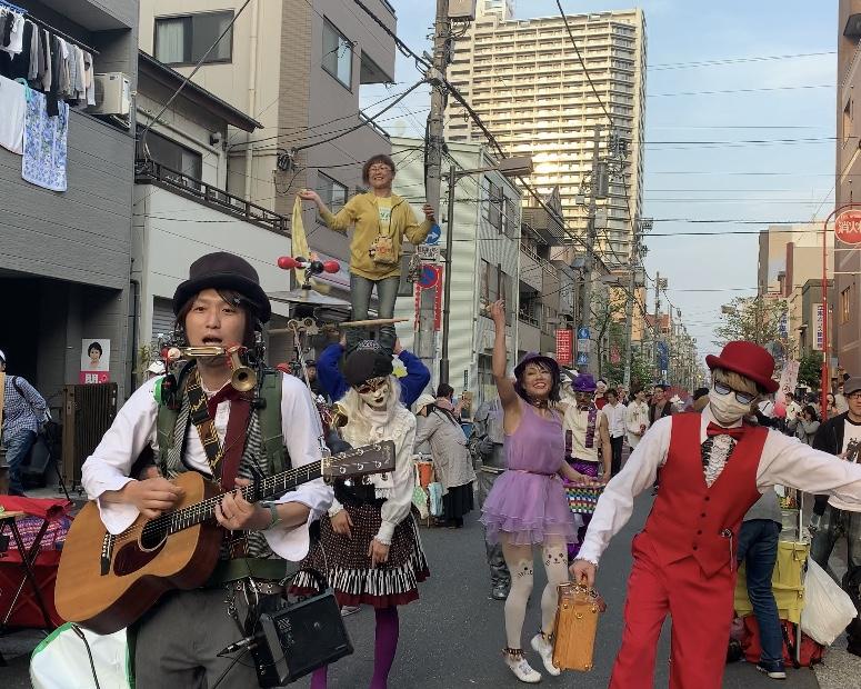 深川美楽市にてパレード!!